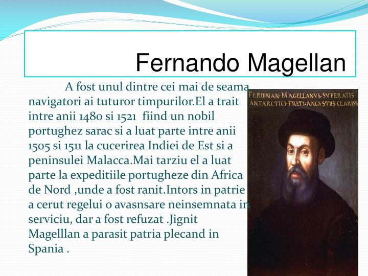 ferdinand magellan essay Essay ferdinand magellan - ferdinand magellan was born in 1480, in a stone farm house in portugal his father's name was dom ruy magellan, and his mother's name was donha alda de mesquite.