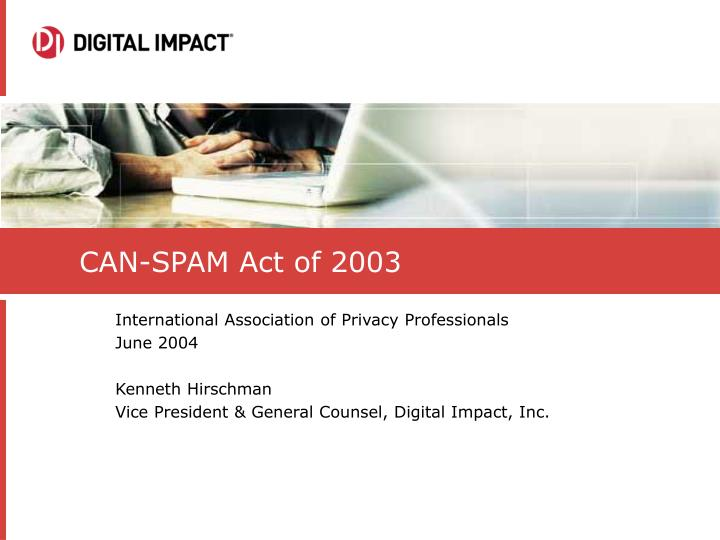 can spam act of 2003 n.