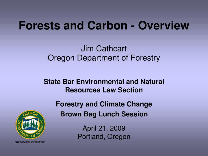 forests and carbon overview n.