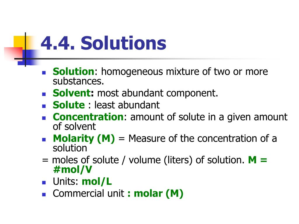 4.4. Solutions