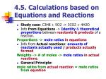 4 5 calculations based on equations and reactions