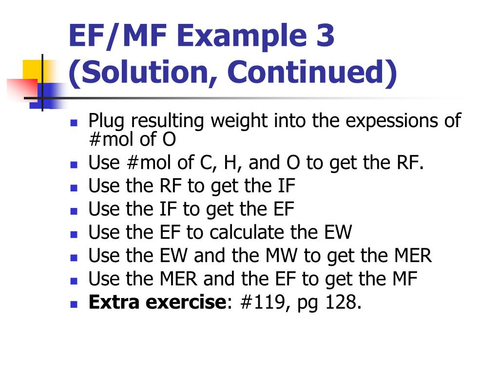 EF/MF Example 3 (Solution, Continued)