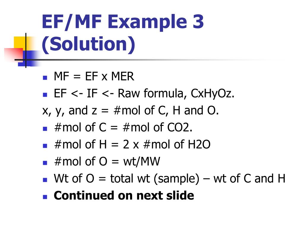 EF/MF Example 3 (Solution)