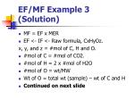 ef mf example 3 solution