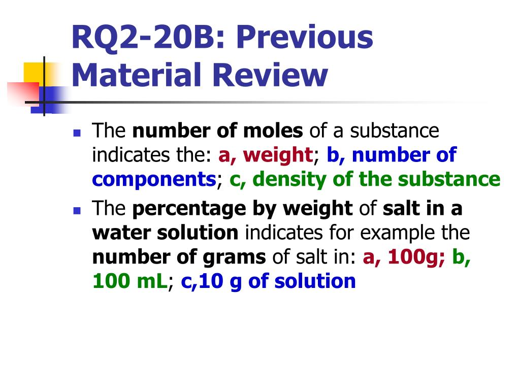 RQ2-20B: Previous Material Review