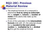 rq2 20c previous material review