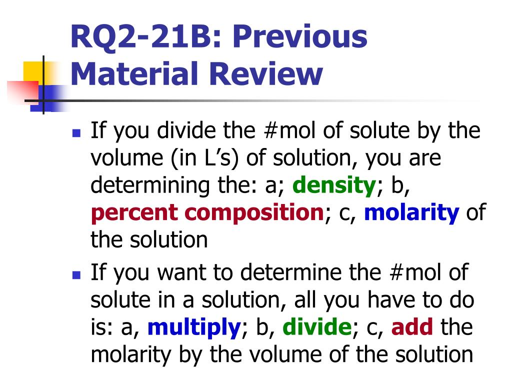 RQ2-21B: Previous Material Review