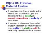 rq2 21b previous material review