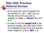 rq2 25b previous material review