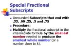 special fractional subscripts