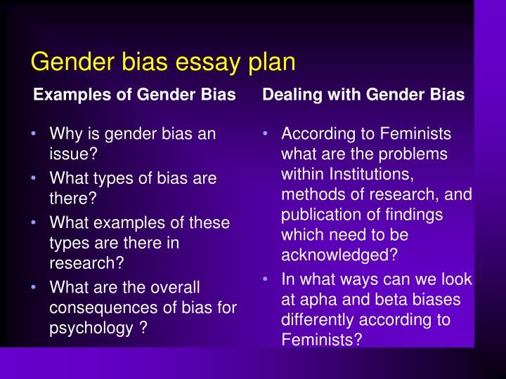 essays on gender bias