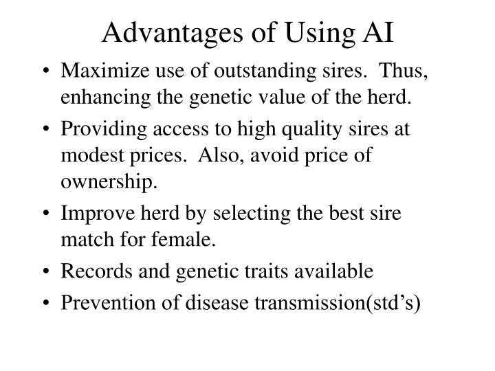 Advantages of using ai