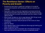 the remittance sector effects on poverty and growth