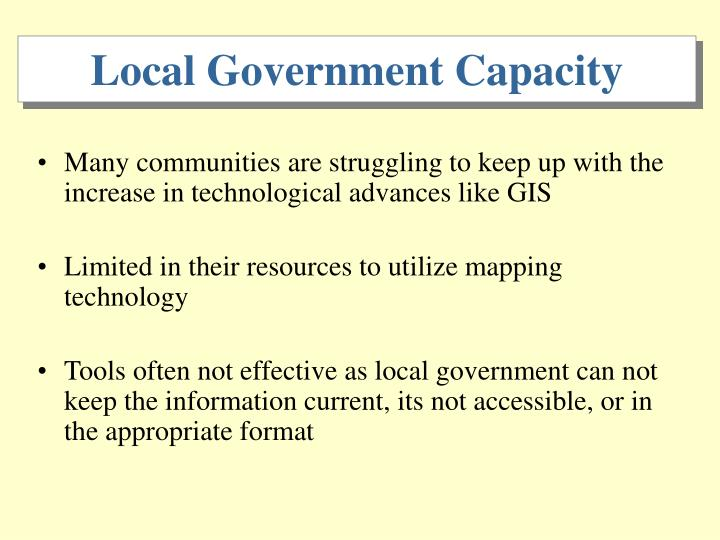 Local Government Capacity
