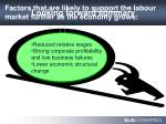 factors that are likely to support the labour market further as the economy grows