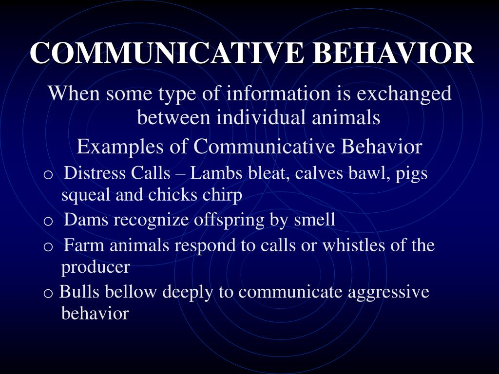 COMMUNICATIVE BEHAVIOR