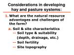 considerations in developing hay and pasture systems