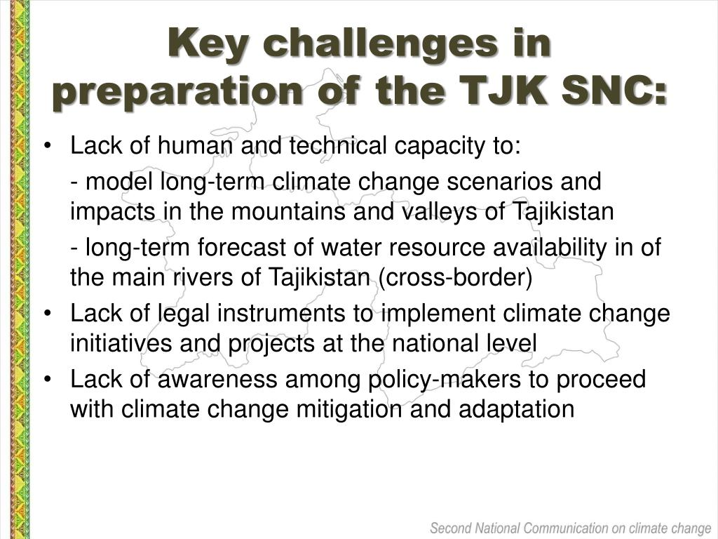 Key challenges in preparation of the TJK SNC: