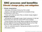 snc process and benefits climate change policy and mitigation