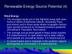 renewable energy source potential 4