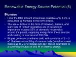 renewable energy source potential 5