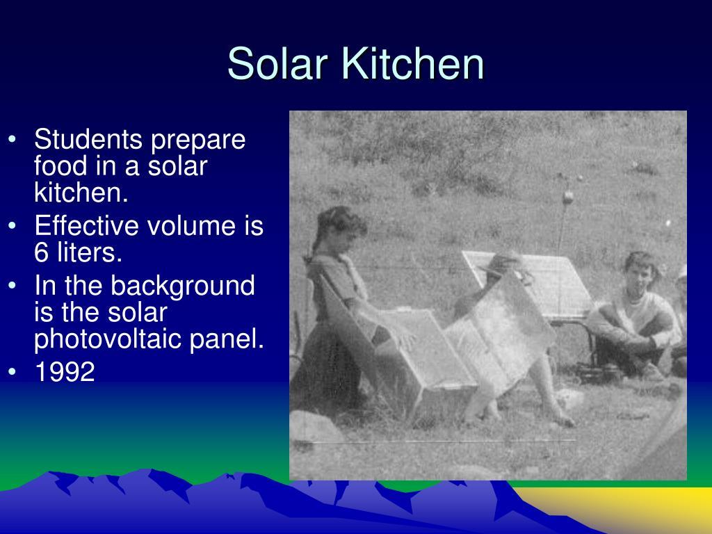 Solar Kitchen