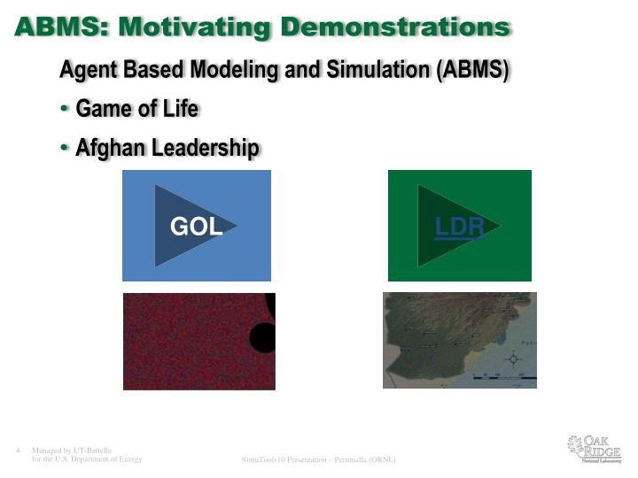 Agent Based Modeling and Simulation (ABMS)