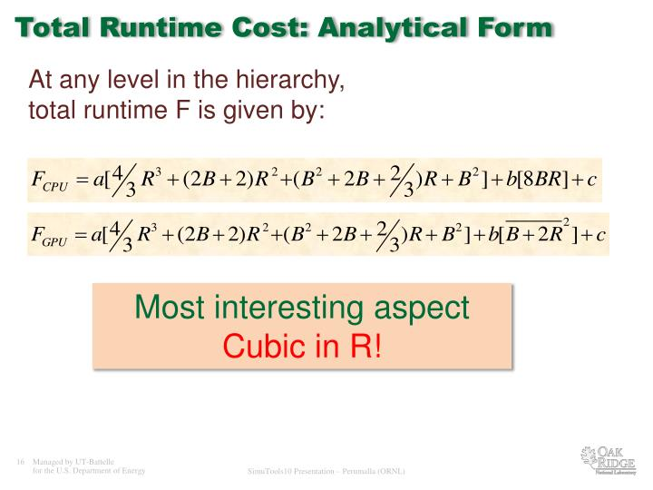 Total Runtime Cost: Analytical Form