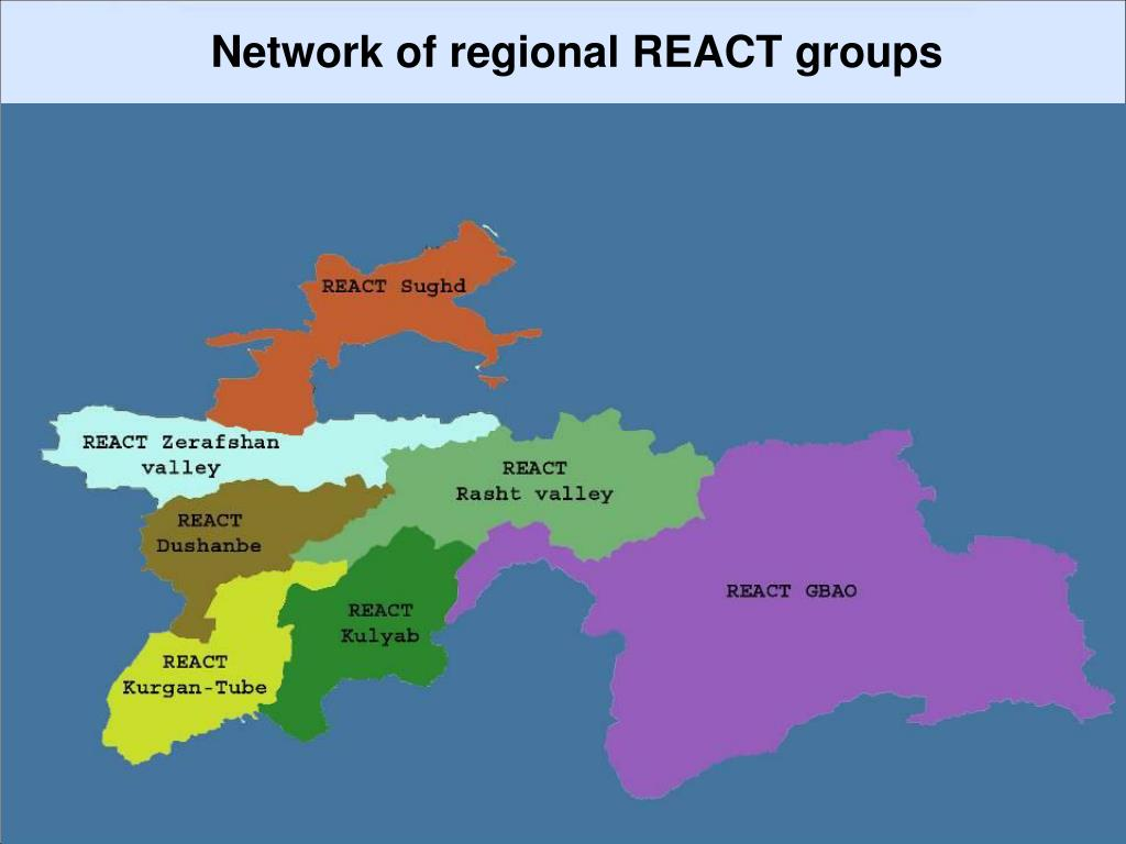 Network of regional REACT groups