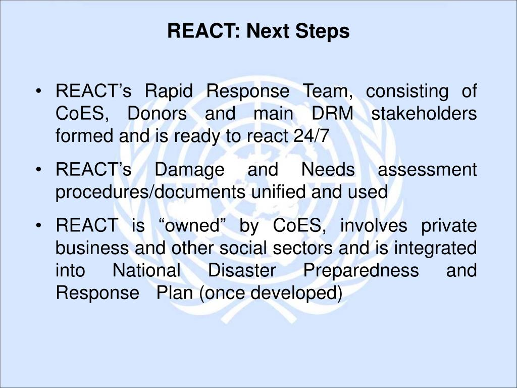 REACT: Next Steps