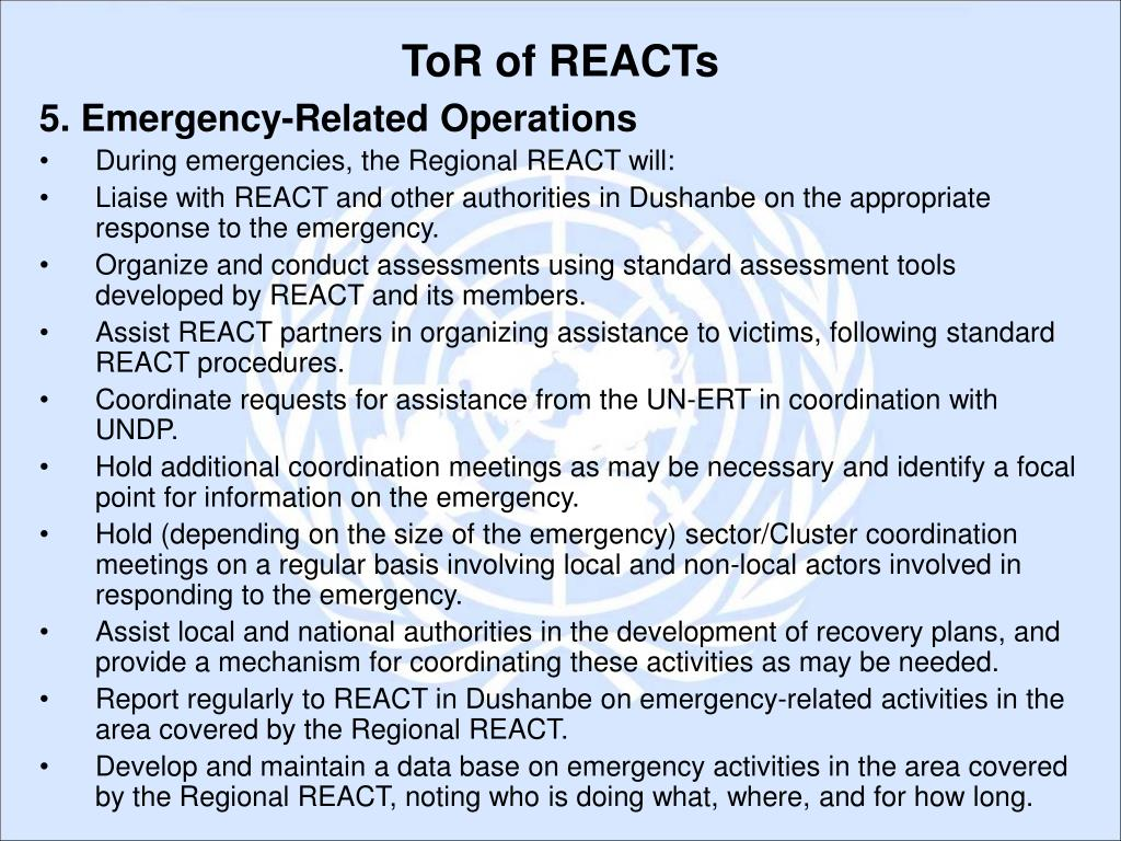 5. Emergency-Related Operations