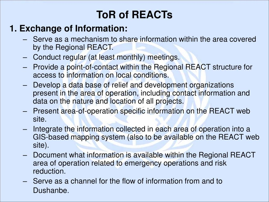 1. Exchange of Information:
