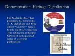 documentation heritage digitalization