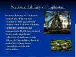 national library of tajikistan