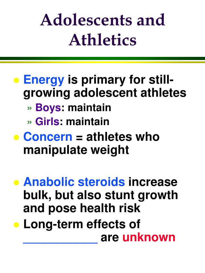 Adolescents and Athletics