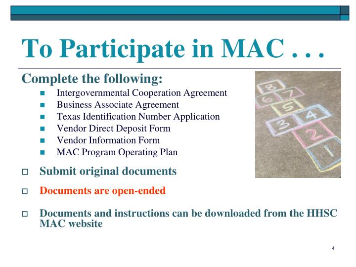 To Participate in MAC . . .