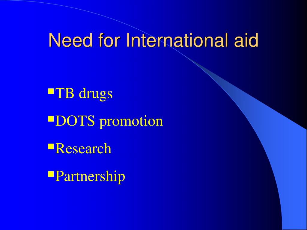 Need for International aid