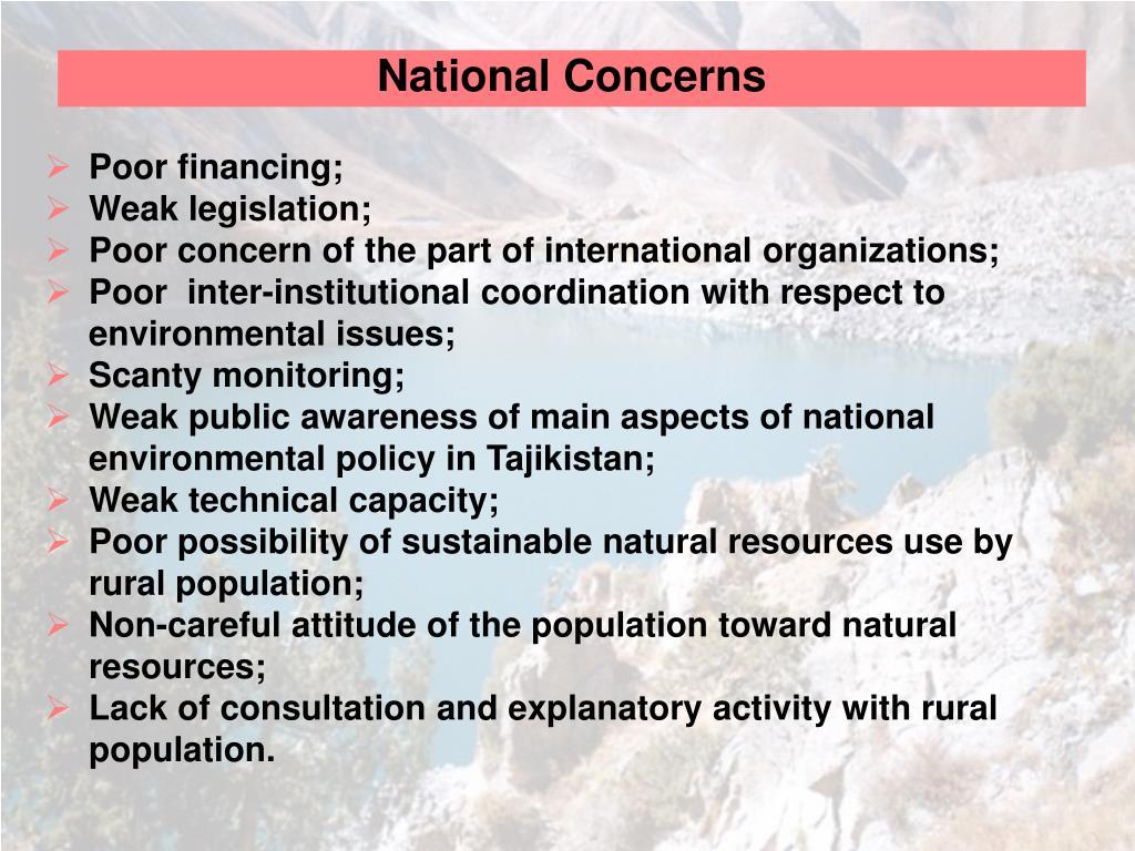 National Concerns