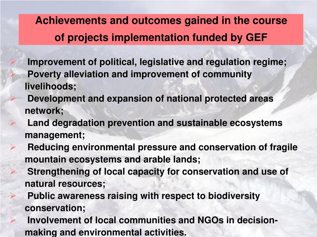 Achievements and outcomes gained in the course