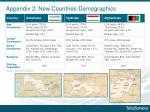 appendix 2 new countries demographics