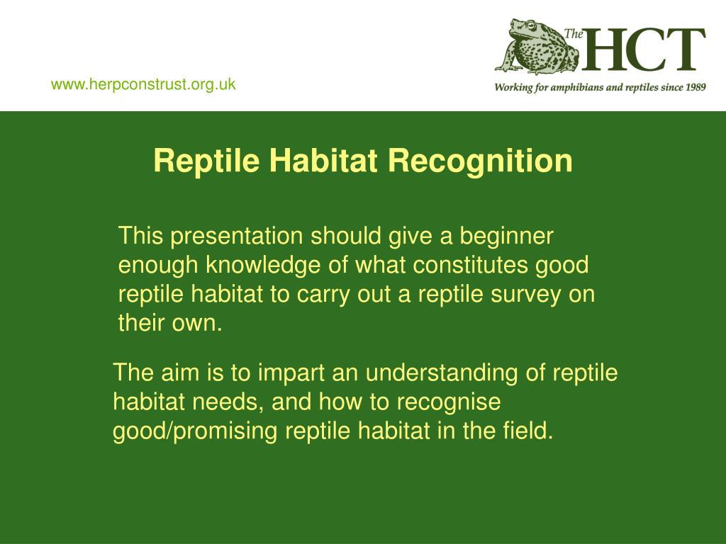 Reptile Habitat Recognition