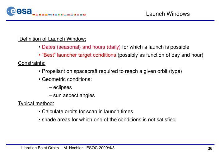 Launch Windows