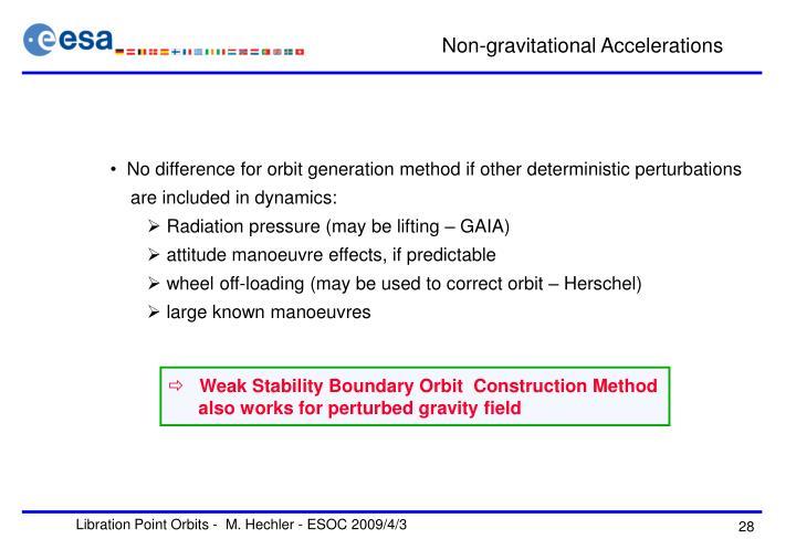 Non-gravitational Accelerations