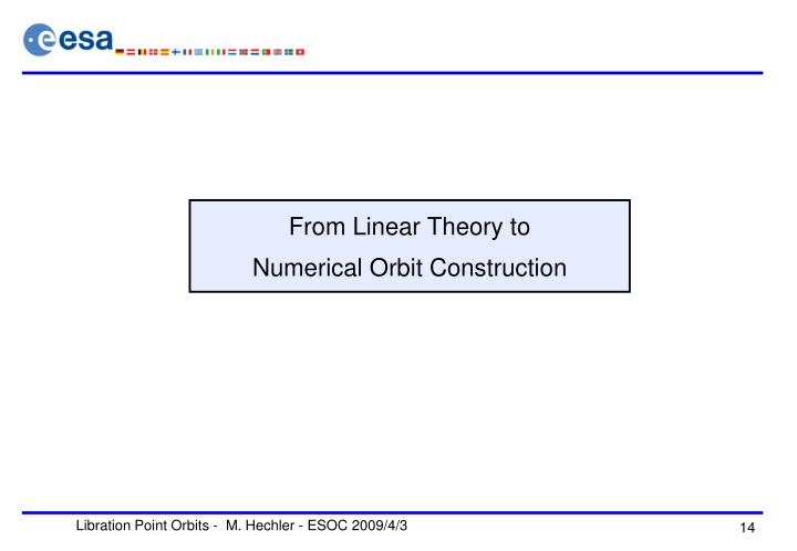 From Linear Theory to