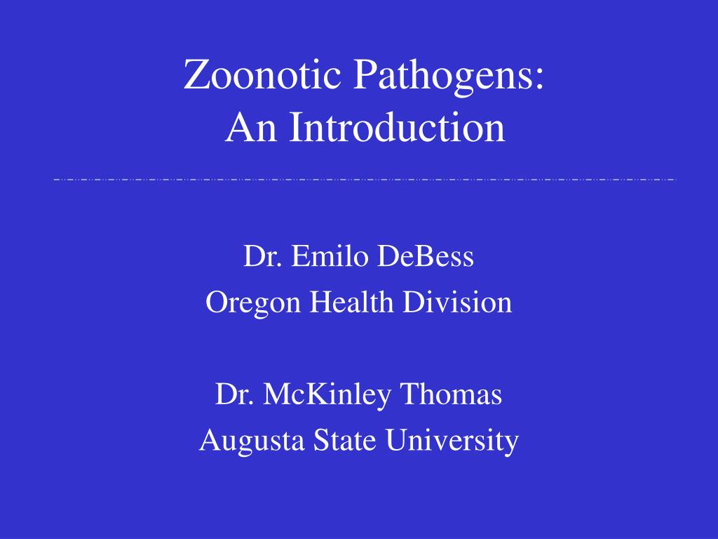 zoonotic pathogens an introduction l.