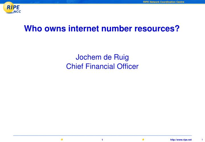 who owns internet number resources n.