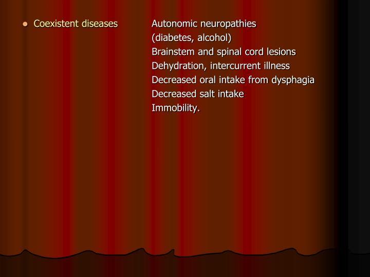 Coexistent diseases