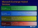 microsoft exchange hosted services