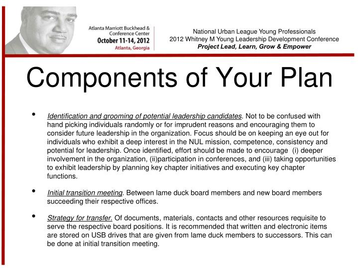 Components of Your Plan