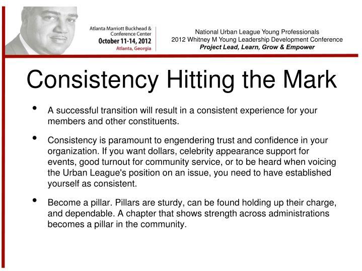 Consistency Hitting the Mark